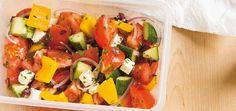 Salade grecque Recettes | Ricardo/ recette facile, en plus, c'est toujours bon la salade grecque!