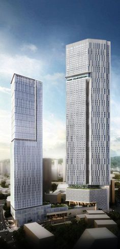 Oberoi Oasis Towers, Worli Mixed Use Development, Mumbai, India by Kohn Pedersen Fox Associates, A+I Architecture :: 52 and 85 floors, height 253m and 385m