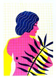 Summer nude - HelloMarine - Sergeant Paper editions- Risographie sur papier…