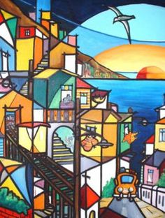 afiche Chile, Stained Glass Designs, Home Art, Canvas Art, Drawings, Illustration, Painting, Art Houses, Puerto Rico