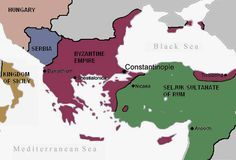 The Byzantine Empire and the Sultanate of Rûm before the First Crusade.