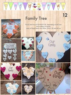 Family tree wall plaques and signs, Collections of my designs please share the board - gifts - all occasions  - personalised  crafty hands  Twitter @Craftyhand  http://m.facebook.com/craftyhandss