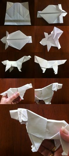 Origami Tutorial plus free silhouette file from Nadine Muir from Silhouette UK Blo . - DIY paper b Origami Design, Origami Dog, Instruções Origami, Origami Star Box, Origami And Kirigami, Origami Dragon, Origami Fish, Paper Crafts Origami, Diy Paper