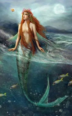 Artwork: mermaid by fantasy artist Brooke Gillette. See more artwork by this featured artist on the fantasy gallery website. Fantasy Mermaids, Real Mermaids, Mermaids And Mermen, Magical Creatures, Fantasy Creatures, Sea Creatures, Mythological Creatures, Mermaid Fairy, Mermaid Tale