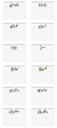 These will make creating a schedule way more fun!