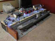 Lego Type VIIc U-Boat in Drydock