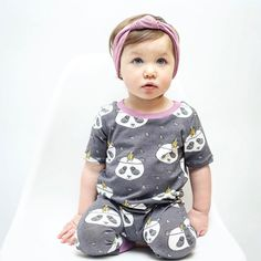 Be Loved Handmade - panda romper! Hey Love, Baby Makes, Kids Outfits, Rompers, Kids Clothing, Instagram Posts, Panda, How To Make, Babe