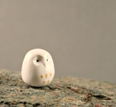 NEW Little Gold Dipped Owl Hand Sculpted by MadeWithClayAndLove, $15.00