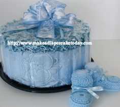 How To Make A Diaper Cake from @Barb Ireland.  #TutorialTuesday
