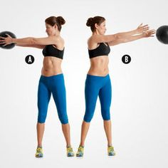 Med Ball Side Rotation http://www.womenshealthmag.com/fitness/abs-exercises-with-weights/med-ball-side-rotation