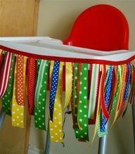 Boy 1st Birthday Decor (Girl's 1st Brithday use pink ribbon)