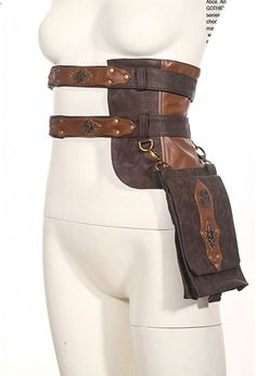 Steampunk Cosplay Steam Punk Clothing Leather Utility Belt Girls Messenger Bags >>> Visit the image link more details. Moda Steampunk, Style Steampunk, Steampunk Fashion, Steampunk Bags, Gothic Steampunk, Victorian Gothic, Fashion Goth, Steampunk Cosplay, Steampunk Accessories