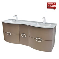 60in Wall Mount ANAIS Metal Brum Bathroom Vanity Socimobel | Bathroom  Supply Store In Brooklyn NY