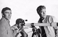 James Drury and Doug McClure with a telescope dp-11880