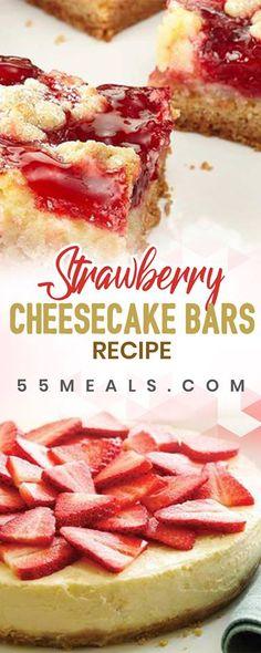 Strawberry Cheesecake Bars recipe - Easy recipe