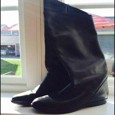Vintage Nine West black leather boots Beautiful black Brazilian leather boots Nine West Shoes
