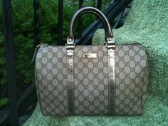"Gucci metallic ""Boston"" bag.  #handbags, #bags, #purses, #Gucci"