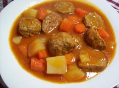 Crock Pot Meatball Stew from Food.com:   This is a delicious stew. Easy to make and smells so good while cooking.