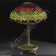 Vintage Tiffany peacock lamp