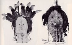 Navaho Masks for use in the Yei-be-chai dance, via Flickr.