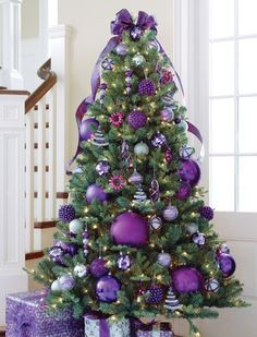 Regal Christmas Tree Decorate your tree with purple.