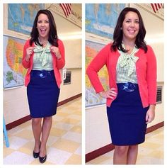 10 Outfit & Style Ideas for Teachers...fashion inspiration for dressing professionally and trendy at work!