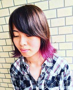 WEBSTA @ misaki_625xx - きょっぴcolor change⭐️#ヘアカラー#カラーチェンジ#バイオレット#マニパニ#purplehaze #紫#外ハネ