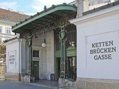 La gare de Kettenbrückengasse (Otto Wagner) by dalbera, via Flickr