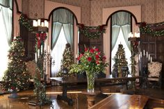 A sneak peek of the Music Room in #Biltmore House decorated for #Christmas 2013. www.biltmore.com #holiday #Asheville