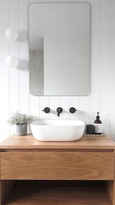 Modern Bathroom Design, Bathroom Interior Design, Modern Bathroom Inspiration, Scandinavian Bathroom Design Ideas, Modern Small Bathrooms, Minimalist Bathroom Design, Modern Bathroom Sink, Modern Bathroom Lighting, Minimal Bathroom