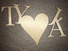 TY+A+JÁ+Dřevěná+dekorace+s+překližky+4mm,+součástí+páska+pro+uchycení+na+zeď.
