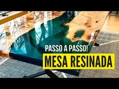 Mesa resinada – Passo a passo mesa de resina epóxi River Table - YouTube Resin Crafts, Resin Art, Wood Crafts, Diy Wooden Projects, Wooden Diy, Epoxy Wood Table, Pallet Desk, Wood Table Design, Diy Dining Table
