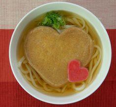 バレンタインには「うどん」をどうぞ--ハートの油揚げ入り「LOVE きつね」