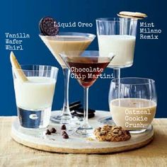 Your Dessert The perfect Christmas cookie cocktails just in time before your creepy uncle arrives for Christmas dinner!The perfect Christmas cookie cocktails just in time before your creepy uncle arrives for Christmas dinner! Christmas Drinks, Holiday Drinks, Party Drinks, Cocktail Drinks, Cocktail Recipes, Holiday Recipes, Alcoholic Drinks, Beverages, Winter Cocktails