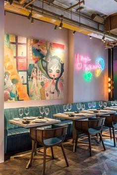 Ideas for art deco restaurant design hong kong Car Interior Sketch, Restaurant Interior Design, Asian Restaurants, French Restaurants, Architecture Restaurant, Architecture Design, Commercial Design, Commercial Interiors, Deco Restaurant