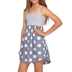 Roxy Girls Hot N Cold Polka Dot Dress