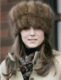 Kate in sable hat