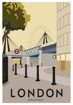 New Vintage Travel Posters England London Underground Ideas Posters Uk, Railway Posters, London Poster, London Art, London Underground, London Transport, London Travel, London Drawing, Poster Retro