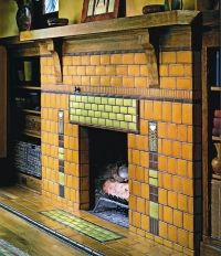 Sources for Arts & Crafts Tile   Fireplace tile surround ...