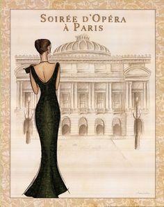 Opera Art Print by Andrea Laliberte