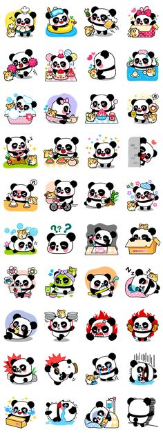 Adorable best buddies, Pan and Ham are here to play! If you love pandas and sweets, these stickers are perfect for you! Enjoy their precious moments. Kawaii Stickers, Cute Stickers, Kawaii Drawings, Cute Drawings, Kawaii Art, Kawaii Anime, Printable Stickers, Planner Stickers, Panda Art