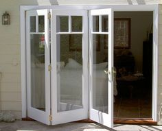 Patio doors can look more expensive by painting or replacing the patio door handles. Three different types: patio sliding doors, folding patio doors . Folding Patio Doors, French Doors Patio, French Patio, Marquise, Windows And Doors, My Dream Home, Home Remodeling, House Plans, House Ideas