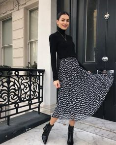 Winter Dress Outfits, Casual Dress Outfits, Mode Outfits, Skirt Outfits, Classy Outfits, Spring Outfits, Modest Fashion, Skirt Fashion, Fashion Outfits
