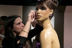 Prepping manequin for the Ebony Fashion Fair exhibit at Chicago History Museum (now thru January Black Mannequin, Mannequin For Sale, Mannequin Heads, Chicago History Museum, Museum Displays, Vintage Couture, Beautiful Women, Exhibit, Party