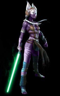 A'lora Kituri as a Jedi Knight of the New Jedi Order.
