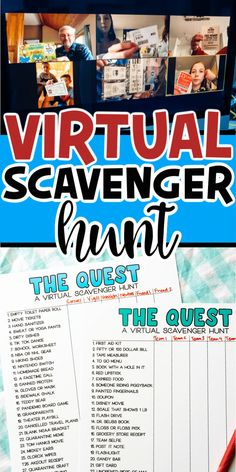 A virtual scavenger hunt is a super fun way to connect with your friends and family virtually! Print out one of the printable scavenger. Scavenger Hunt For Kids, Scavenger Hunts, Fun Games, Games For Kids, Party Games, Xmas Games, Christmas Games, Activity Games, Kids Fun