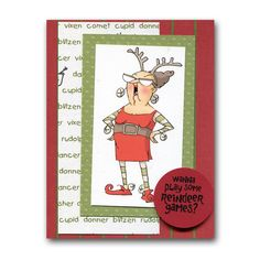 2013 Holiday Card 6 Funny Reindeer Games