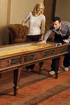 You'll feel like you're playing on an antique table when you play on the Wilshire Shuffle Board Table!  Exceptionally handcrafted for a durable and antique piece perfect for fun game nights.