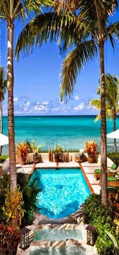 L'Acqua en Jumby Bay Beach, Antigua - Frente a la playa, Piscina al, jardines ..... Liebres de mar de Jumby Bay - Alquiler de Vacaciones.