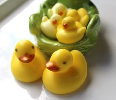 RUBBER DUCKY SOAP Family Mom Dad and Baby Ducky by thecharmingfrog